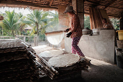 Photograph - Vietnamese Rice Noodle Factory by Michelle Lee