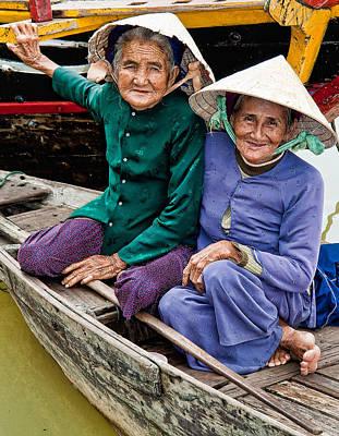 Photograph - Vietnamese Women by Joel Gilgoff