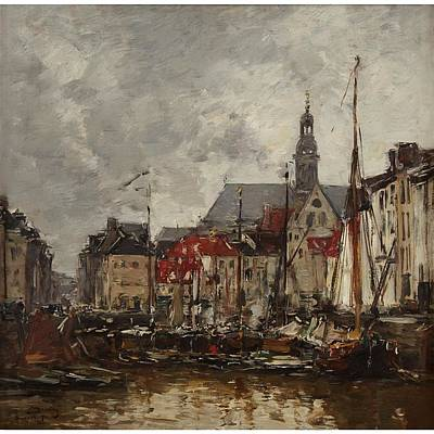 Bassin Painting - Vieux Bassin A Anvers by Boudin