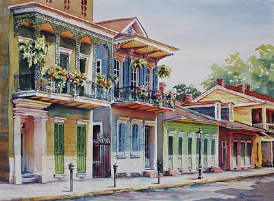 City Scape Painting - Vieux Carre by Sue Zimmermann