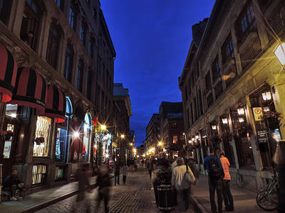 Photograph - Vieux Montreal Twilight 001 by Lance Vaughn