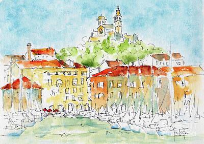 Art Print featuring the painting Vieux Port Marseille by Pat Katz