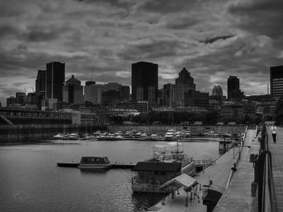 Photograph - Vieux Port Montreal 001 Bw by Lance Vaughn