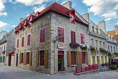 Photograph - Vieux Quebec, Place Royale, Canada by Venetia Featherstone-Witty