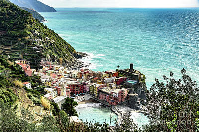 Photograph - View Above Vernazza, Cinque Terre, Italy by Global Light Photography - Nicole Leffer