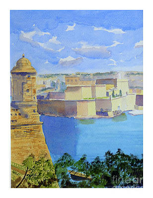 Painting - view across Grand Harbour by Godwin Cassar