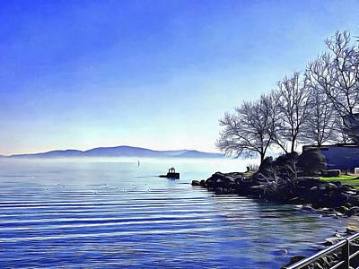 Photograph - View Across Lago Trasimeno by Dorothy Berry-Lound