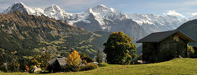 Eiger Photograph - View Across Lauterbrunnen Valley by Panoramic Images