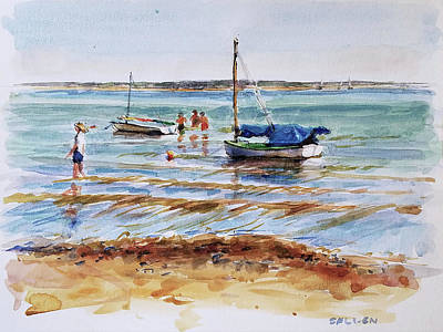Painting - View Across Provincetown Harbor by Peter Salwen