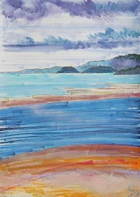 Painting - View Across River Exe To Dawlish Warren by Mike Jory