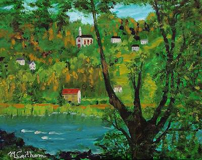 Painting - View Across The River by Mike Caitham