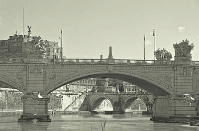 Photograph - Roman View Along The Lungotevere  by JAMART Photography
