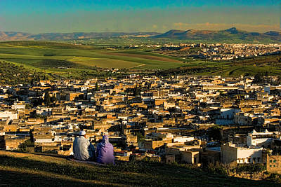 Photograph - View Ancient Fes Morroco by David Smith