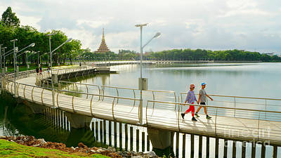 Photograph - View At Khon Nakhon Lake by Ian Gledhill