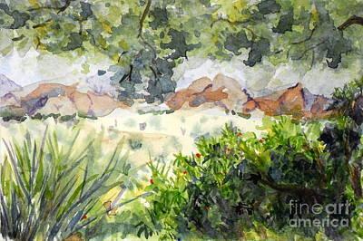 View At Red Rock Art Print