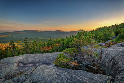 Photograph - View At Sunset From Tumbledown Mountain by Rick Berk