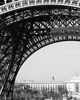 Photograph - View Beneath Eiffel Tower by Diana Haronis