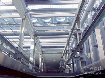 Photograph - View Down An Elevator Shaft by Yali Shi