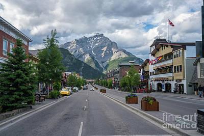 Photograph - View Down Banff Avenue by Mike Reid
