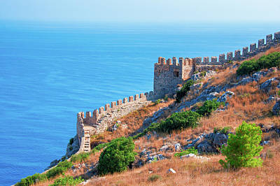 Photograph - View Far Out To Sea From Alanya Castle by Sun Travels