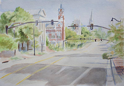 Painting - View From 3rd And Chestnut by Christopher Reid