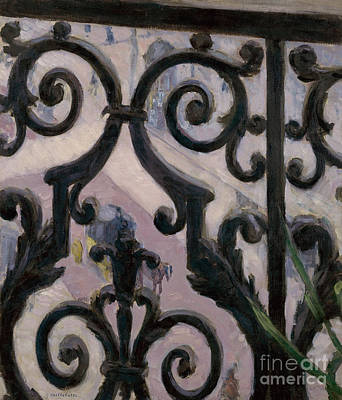 French Door Painting - View From A Balcony, 1880 by Gustave Caillebotte