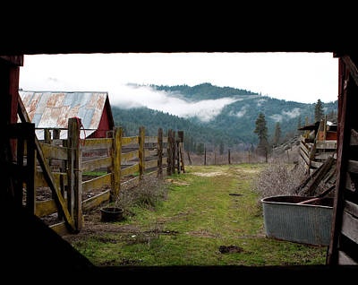 Photograph - View From A Barn by Lorraine Devon Wilke