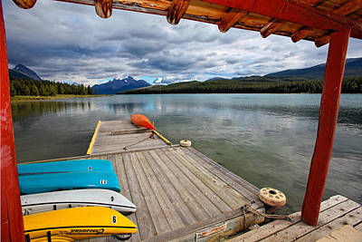 View From A Boathouse Art Print by George Oze