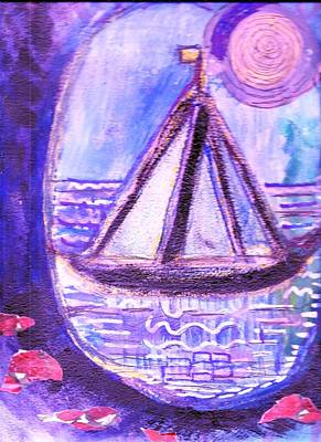 View From A Cavern In The Sea Print by Anne-Elizabeth Whiteway