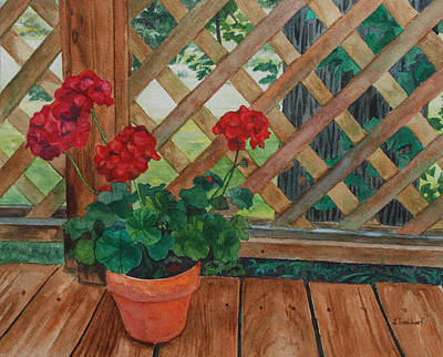 Painting - View From A Deck by Lynne Reichhart