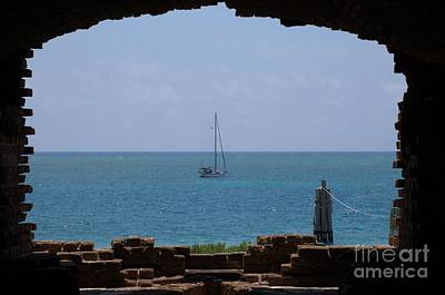 View From A Fort Art Print by Edna Weber