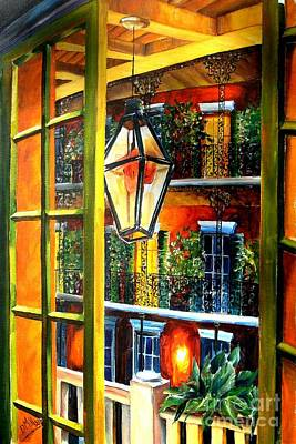 New Orleans Oil Painting - View From A French Quarter Balcony by Diane Millsap