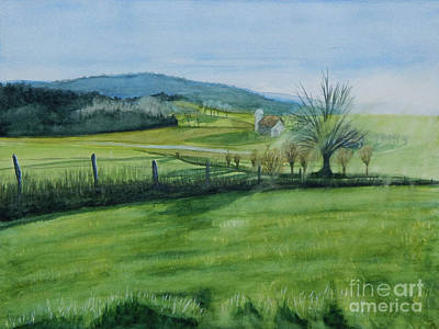 Painting - View From A Hill In Herkimer County by Robert Coppen