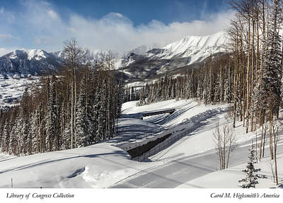 Photograph - View From A Mountain Above Telluride In Colorado by Carol M Highsmith