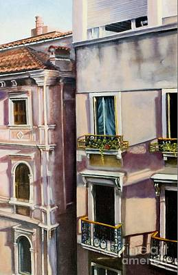 Art Print featuring the painting View From A Venetian Window by Marlene Book