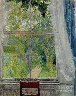 Park Scene Painting - View From A Window by Spencer Frederick Gore