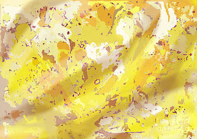 Digital Art - View From Above In Yellow by Julia Underwood