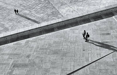 View From Above - Oslo Opera House Art Print by Timothy Cotter