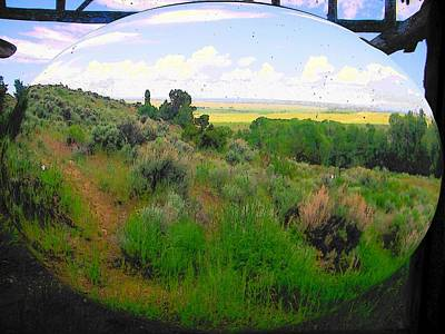 Cabin Window Digital Art - View From Cabin Window by Lenore Senior