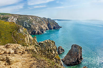 View From Cabo Da Roca - The Western Point Of Continental Europe Art Print by Dragomir Nikolov