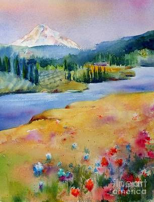 Mt Hood Painting - View From Catherine Creek by Jacqueline  Newbold