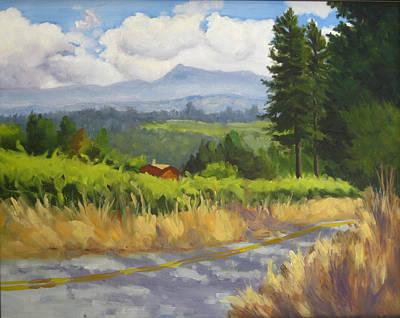 View From Cherry Ridge Art Print by Char Wood