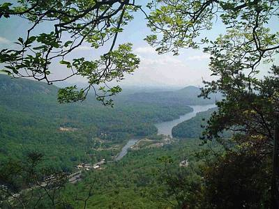 Landscape Photograph - View From Chimney Rock, North Carolina by Sandy Taylor