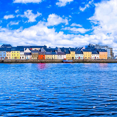 Art Print featuring the photograph View From Claddagh Quay - Galway by Mark E Tisdale
