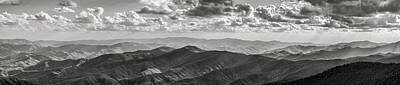 Designs In Nature Photograph - View From Clingmans Dome by Jon Glaser