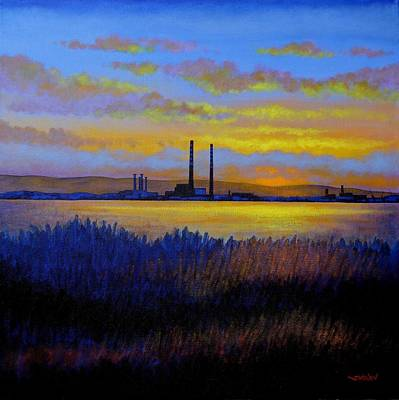 Acrylic Seascape Painting - View From Clontarf - Dublin by John  Nolan
