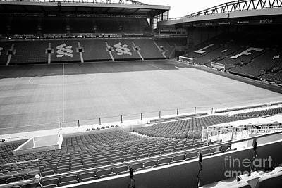 view from directors box in the new main stand at Liverpool FC anfield stadium Liverpool Merseyside U Art Print by Joe Fox