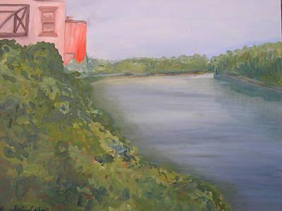 View From Edmund Pettus Bridge Art Print by Patricia Caldwell