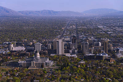 State Capitol Photograph - View From Ensign by Chad Dutson