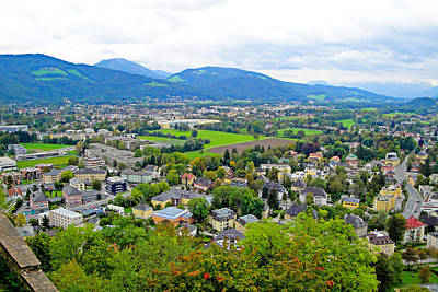 Food And Flowers Still Life - View from Festung Hohensalzburg 3 by Robert Meyers-Lussier